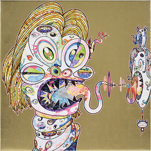 HOMAGE TO FRANCIS BACON NO. 1 (GOLD) BY TAKASHI MURAKAMI