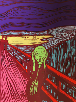 MUNCH THE SCREAM BY ANDY WARHOL FOR SUNDAY B. MORNING