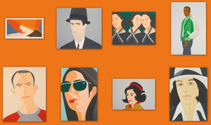 ALEX AND ADA, THE 1960'S TO THE 1980'S (SET OF 8) BY ALEX KATZ