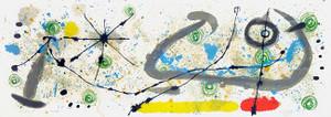 PLATE 8, LE LEZARD AUX PLUMES D'OR BY JOAN MIRO