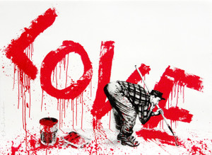 ALL YOU NEED IS LOVE (RED) BY MR. BRAINWASH