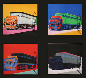 TRUCKS INVITATION (PORTFOLIO OF 4) BY ANDY WARHOL