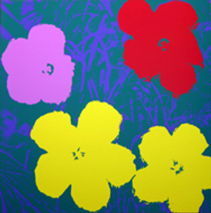 FLOWERS 11.65 BY ANDY WARHOL FOR SUNDAY B. MORNING