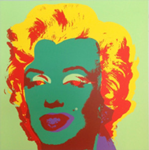 MARILYN MONROE 11.25 BY ANDY WARHOL FOR SUNDAY B. MORNING