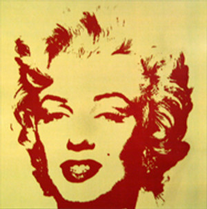 GOLDEN MARILYN MONROE 11.40 BY ANDY WARHOL FOR SUNDAY B. MORNING