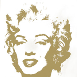 GOLDEN MARILYN MONROE 11.41 BY ANDY WARHOL FOR SUNDAY B. MORNING