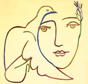 HOMAGE TO PICASSO - PEACE DOVE (GIANT) BY STEVE KAUFMAN