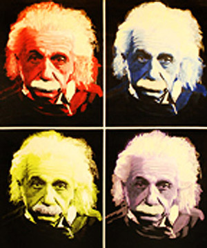 EINSTEIN THE GENIUS - QUAD BY STEVE KAUFMAN
