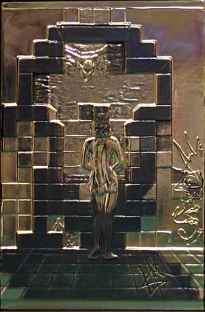 LINCOLN IN DALIVISION GOLD BY SALVADOR DALI