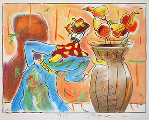 ROBED MAN AND VASE BY PETER MAX