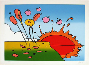 SUNRISE FLOWERS BY PETER MAX