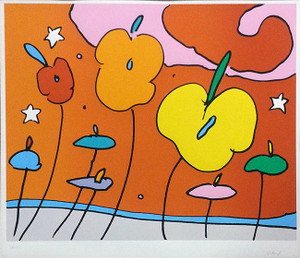 THREE FLOWERS BY PETER MAX