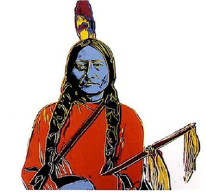 SITTING BULL FS II.376 BY ANDY WARHOL