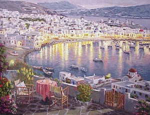 MYKONOS SUNSET BY SAM PARK