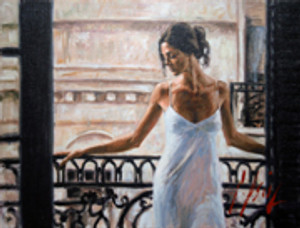 BALCONY AT BUENO AIRES I BY FABIAN PEREZ