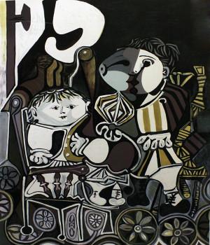 DEUX ENFANTS ASSIS BY MARINA PICASSO