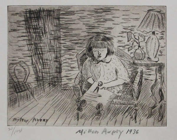 A CHILD CUTTING BY MILTON AVERY