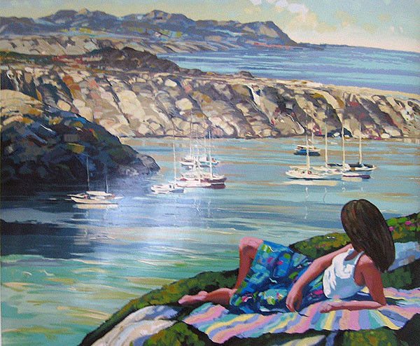 COAST OF RHODES BY HOWARD BEHRENS