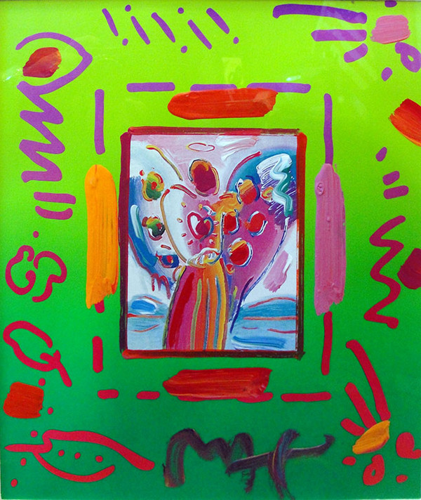 ANGEL WITH HEART COLLAGE BY PETER MAX