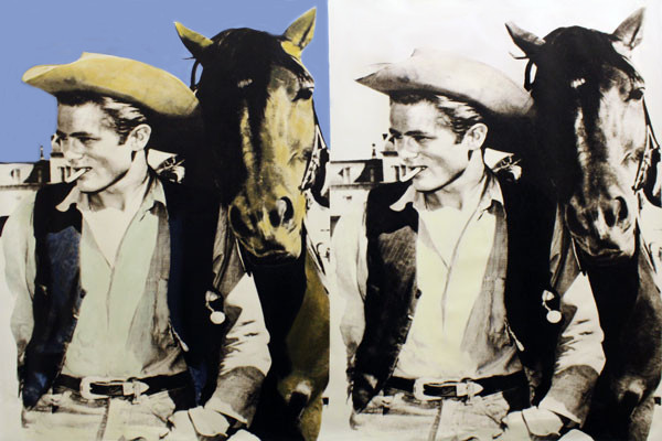 DOUBLE JAMES DEAN-THE COWBOY BY STEVE KAUFMAN