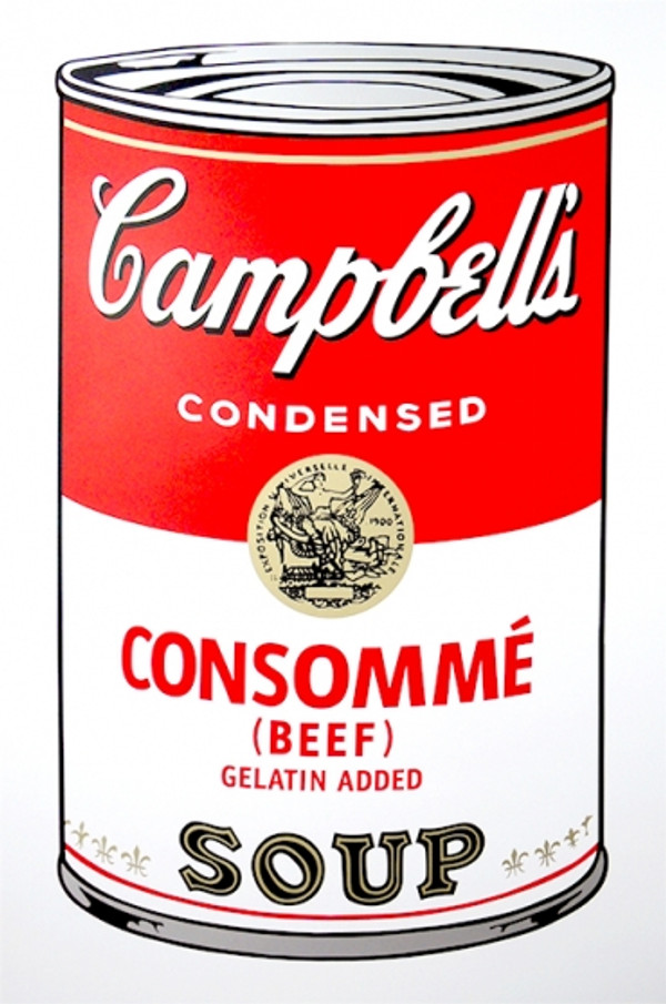 CONSOMME - CAMPBELL SOUP CAN BY ANDY WARHOL FOR SUNDAY B. MORNING