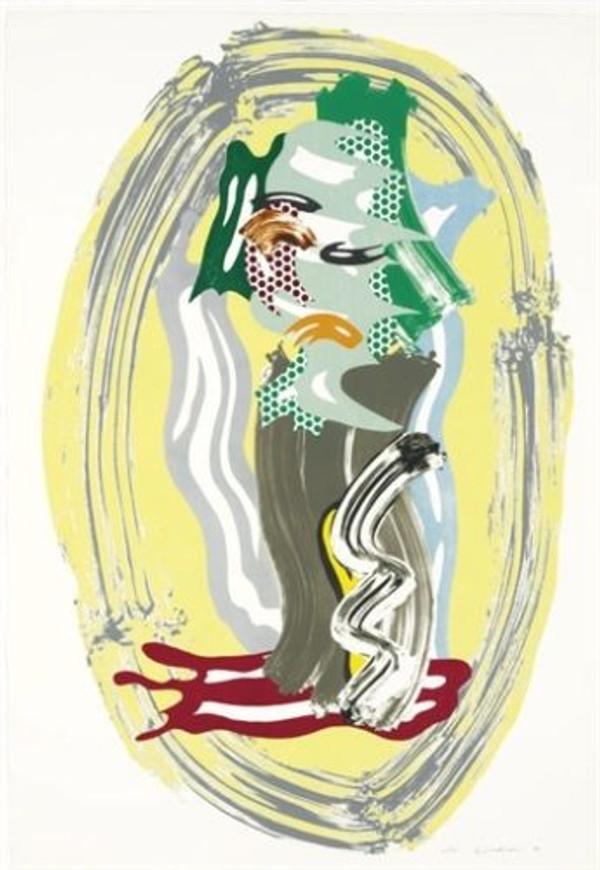 GREEN FACE BY ROY LICHTENSTEIN