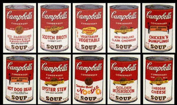 CAMPBELL SOUP CAN (PORTFOLIO OF 10) SERIES II BY ANDY WARHOL FOR SUNDAY B. MORNING