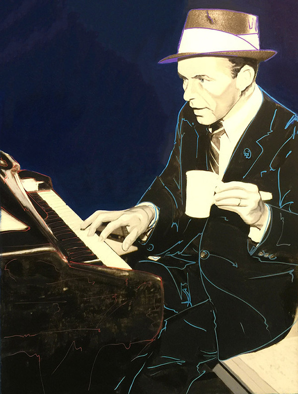 FRANK SINATRA-PIANO MAN BY STEVE KAUFMAN