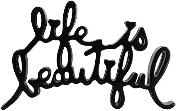 LIFE IS BEAUTIFUL (BLACK) BY MR. BRAINWASH