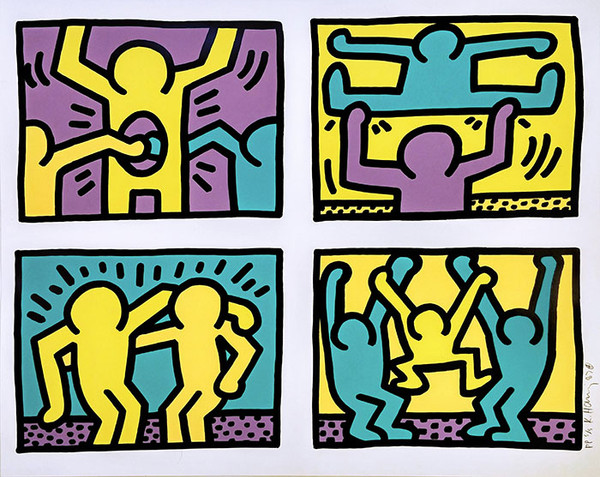 POP SHOP QUAD 1  BY KEITH HARING