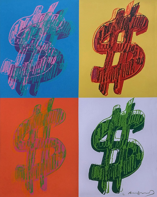 $ DOLLAR SIGN (QUANDRANT) BY ANDY WARHOL