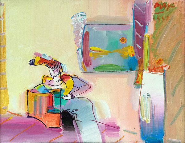 LIVING ROOM (WOMAN) BY PETER MAX