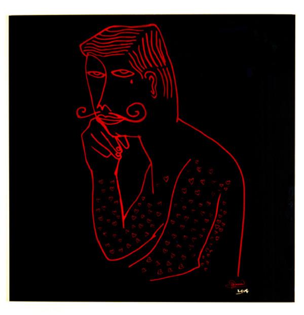 EL ROMANTICO (BLACK & RED) BY HARIF GUZMAN