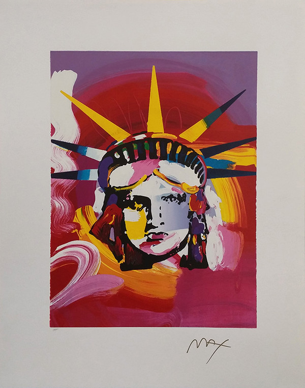 LIBERTY HEAD (TODAY) BY PETER MAX
