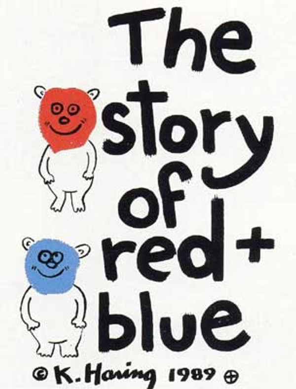 THE STORY OF RED + BLUE (10) BY KEITH HARING