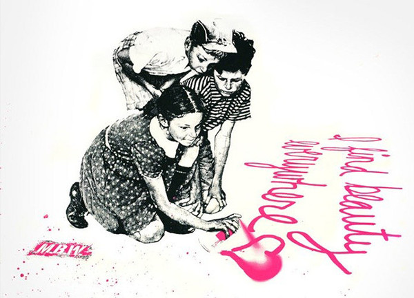 I FIND BEAUTY EVERYWHERE (PINK) BY MR. BRAINWASH