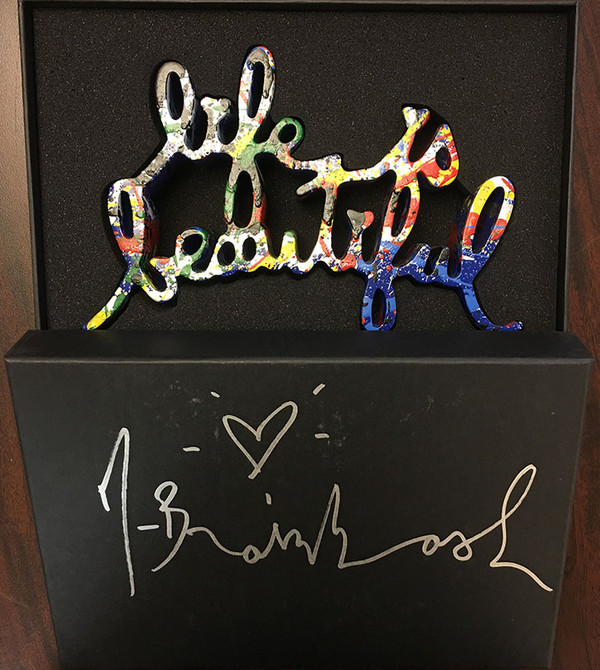 LIFE IS BEAUTIFUL (BLUE VARIANT) BY MR. BRAINWASH