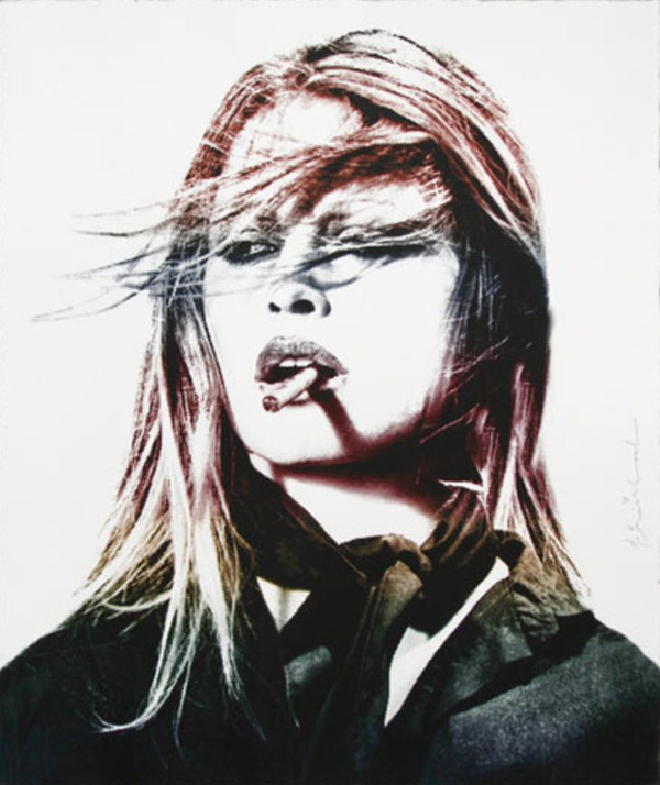 BRIGITTE BARDOT (RED LIPS) BY MR. BRAINWASH