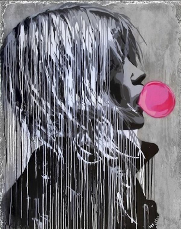 BUBBLE GUM GIRL BY HIJACK / MR. BRAINWASH