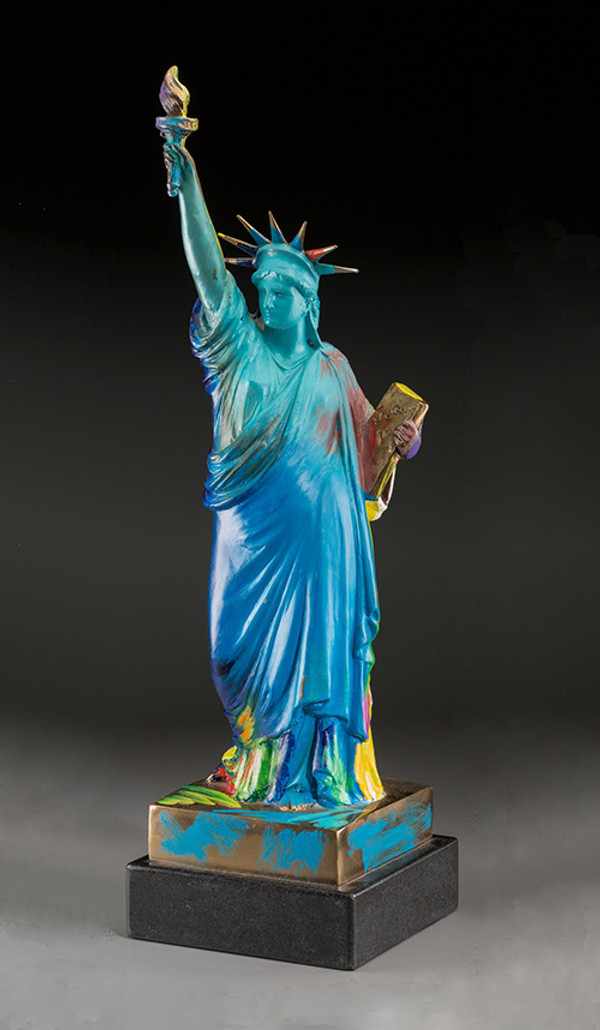 LIBERTY (SCULPTURE) BY PETER MAX
