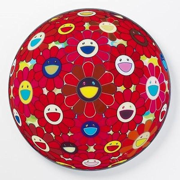 FLOWERBALL RED (3D) BY TAKASHI MURAKAMI