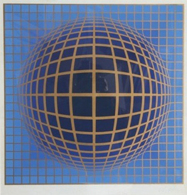 DOMB B- BLUE BY VICTOR VASARELY