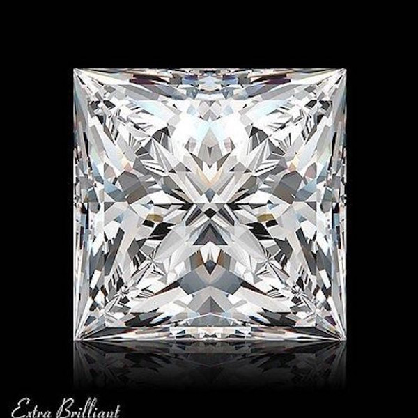 GIA Certified 1.50 Carat Princess Diamond F Color VS2 Clarity Excellent Investment