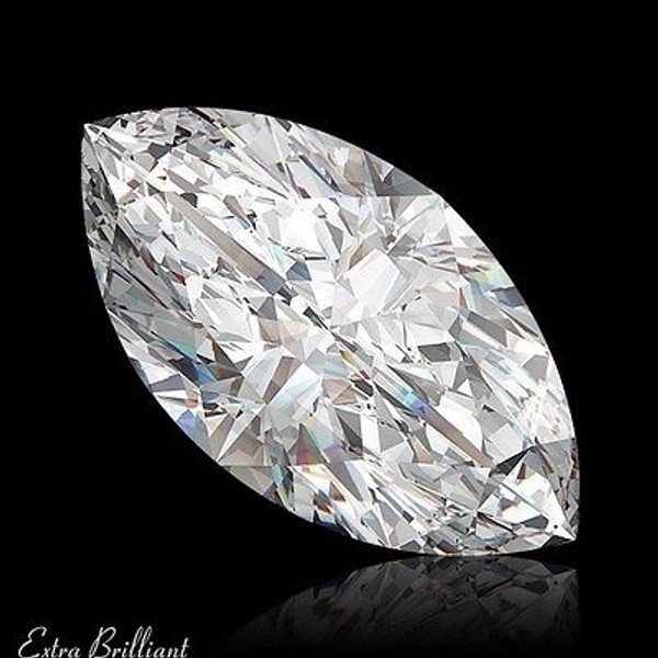 GIA Certified 1.54 Carat Marquise Diamond D Color VS2 Clarity Excellent Investment
