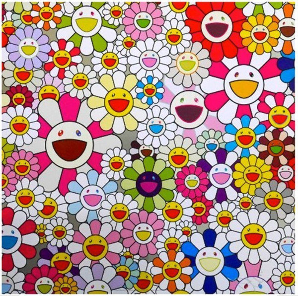 FLOWERS BLOSSOMING IN THIS WORLD  BY TAKASHI MURAKAMI