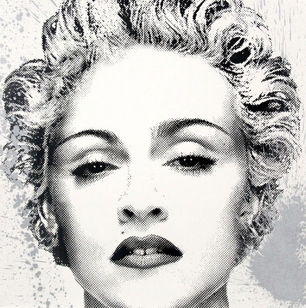 HAPPY B-DAY MADONNA (SILVER) BY MR. BRAINWASH