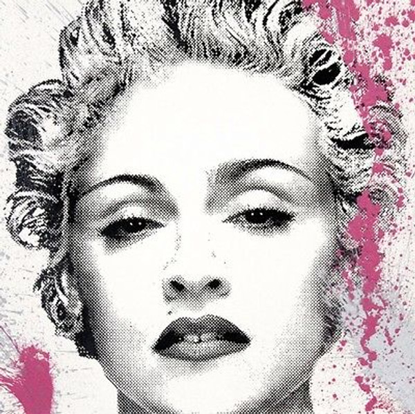 HAPPY B-DAY MADONNA (PINK & SILVER) BY MR. BRAINWASH