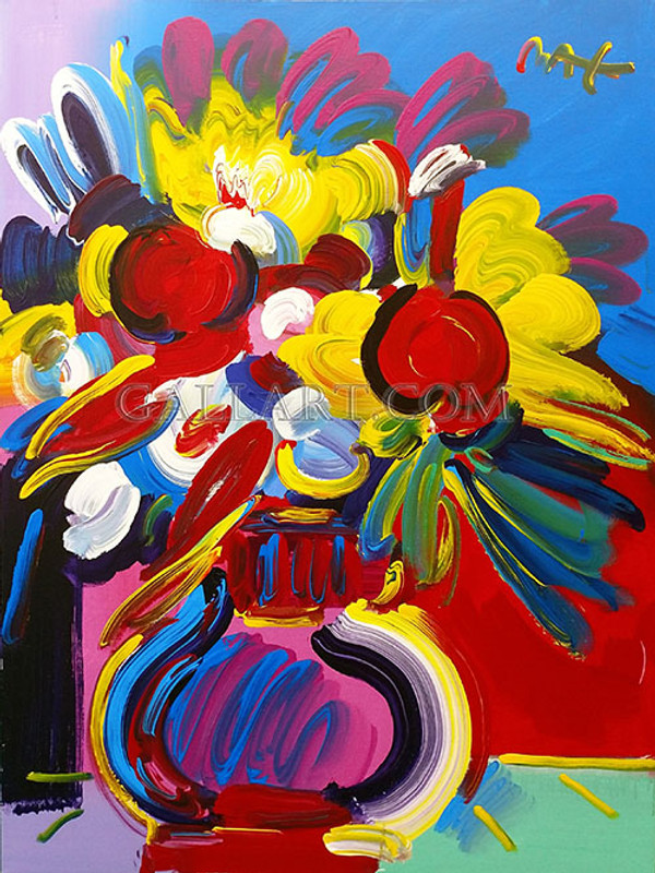 Flower Vase Today By Peter Max Grun Art