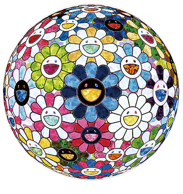 FLOWERBALL'S PAINTERLY CHALLANGE BY TAKASHI MURAKAMI