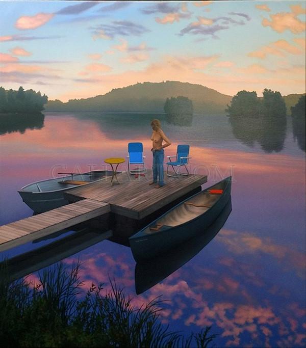SUNRISE ON THE LAKE DOCK BY SCOTT PRIOR